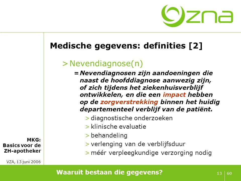 Medische gegevens: definities [3]